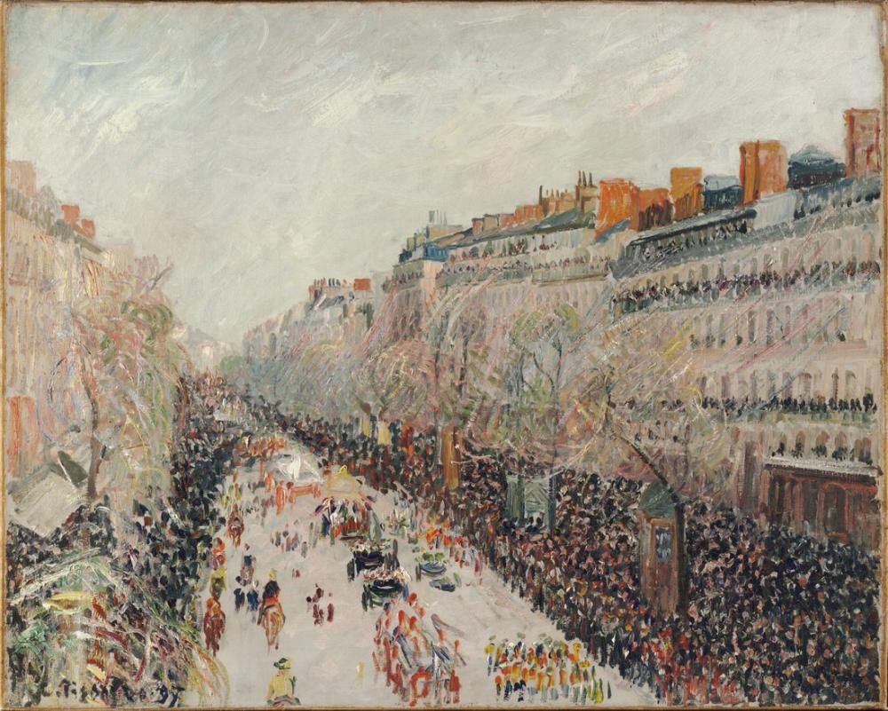 Camille Pissarro Bulvarlarda Mi Lent, Kanvas Tablo, Camille Pissarro, kanvas tablo, canvas print sales
