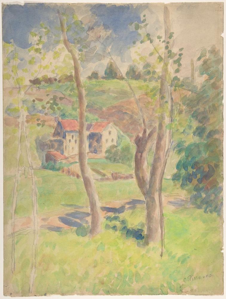Camille Pissarro Manzara, Kanvas Tablo, Camille Pissarro