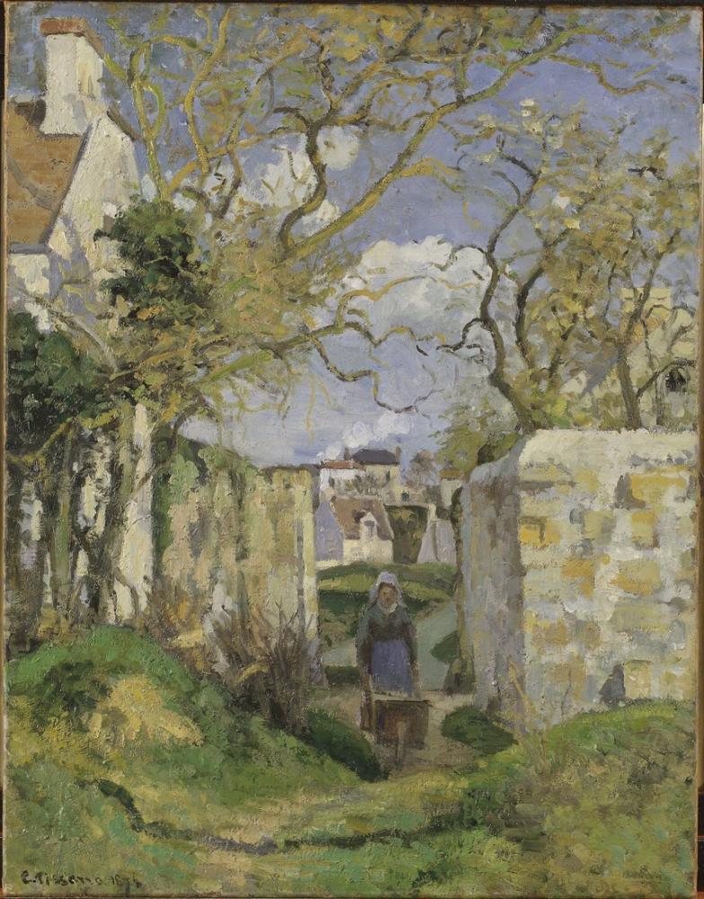 Camille Pissarro Pontoise Manzara, Kanvas Tablo, Camille Pissarro, kanvas tablo, canvas print sales