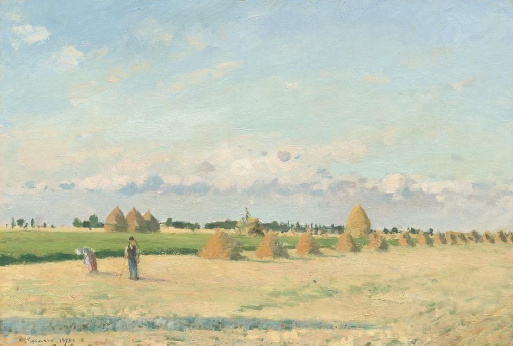 Camille Pissarro Manzara Ile de France, Kanvas Tablo, Camille Pissarro