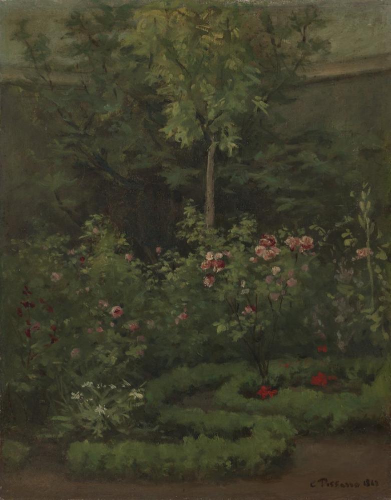 Camille Pissarro A Rose Garden, Canvas, Camille Pissarro, kanvas tablo, canvas print sales