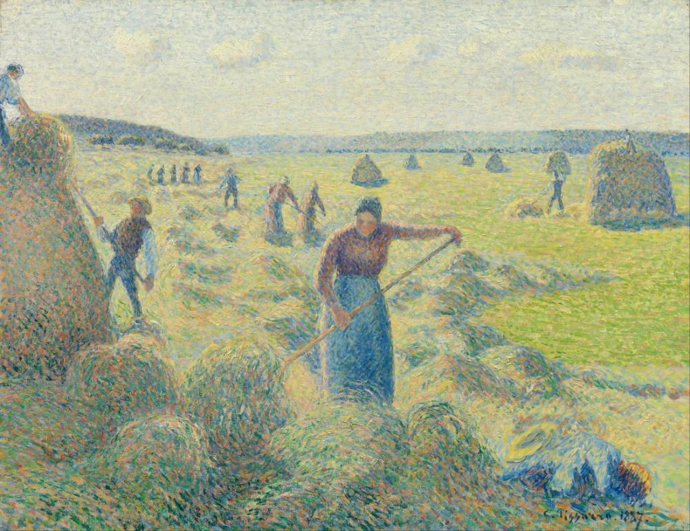 Camille Pissarro Saman Hasat Eragny, Kanvas Tablo, Camille Pissarro