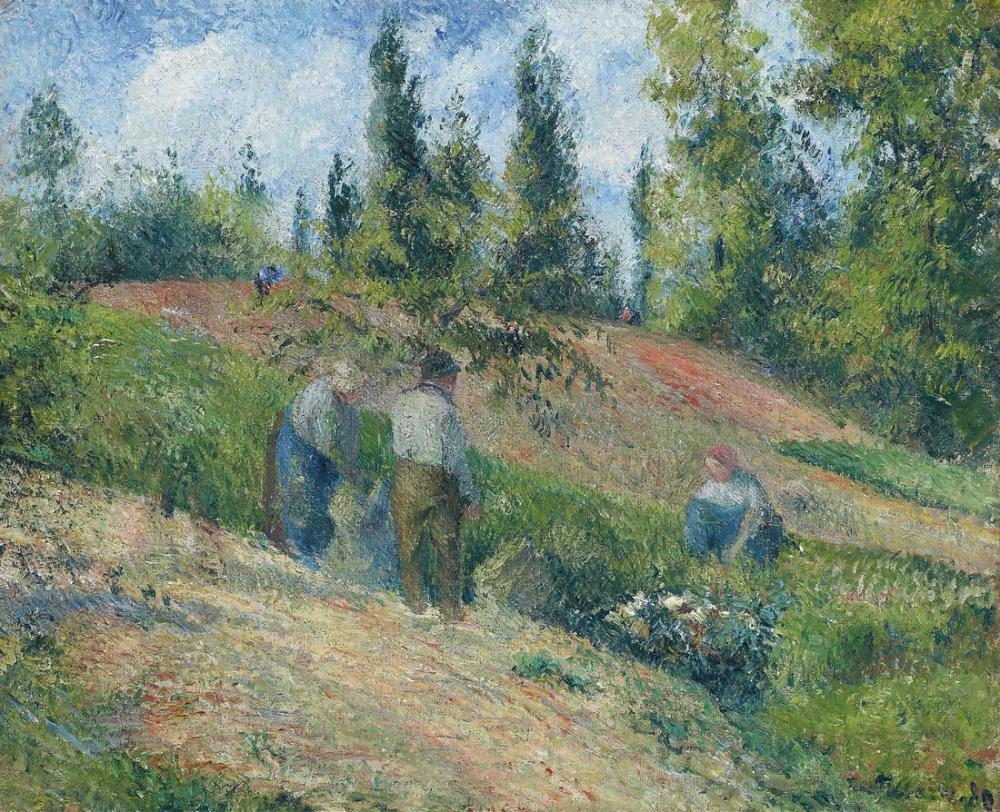 Camille Pissarro Pontoise Hasat, Kanvas Tablo, Camille Pissarro, kanvas tablo, canvas print sales
