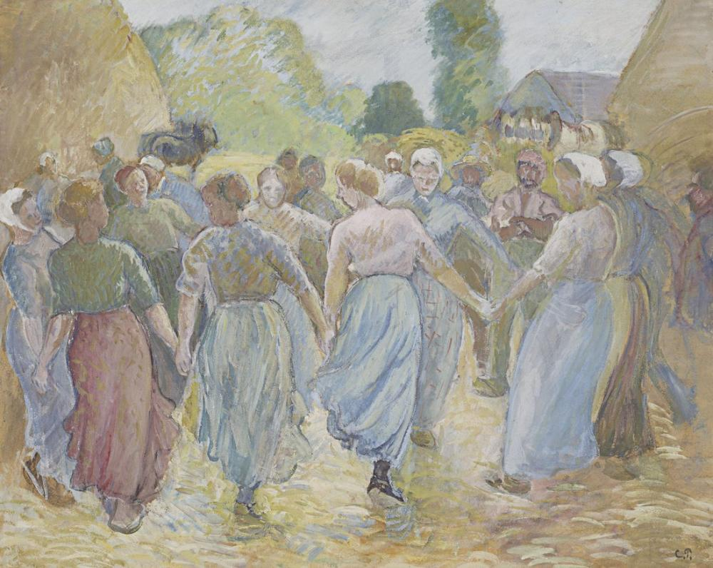 Camille Pissarro Yuvarlak, Kanvas Tablo, Camille Pissarro, kanvas tablo, canvas print sales