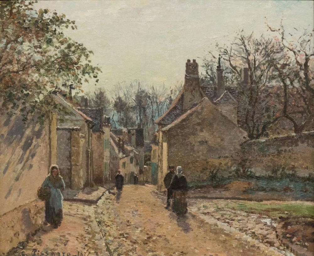 Camille Pissarro La Rue De Voisins, Kanvas Tablo, Camille Pissarro, kanvas tablo, canvas print sales