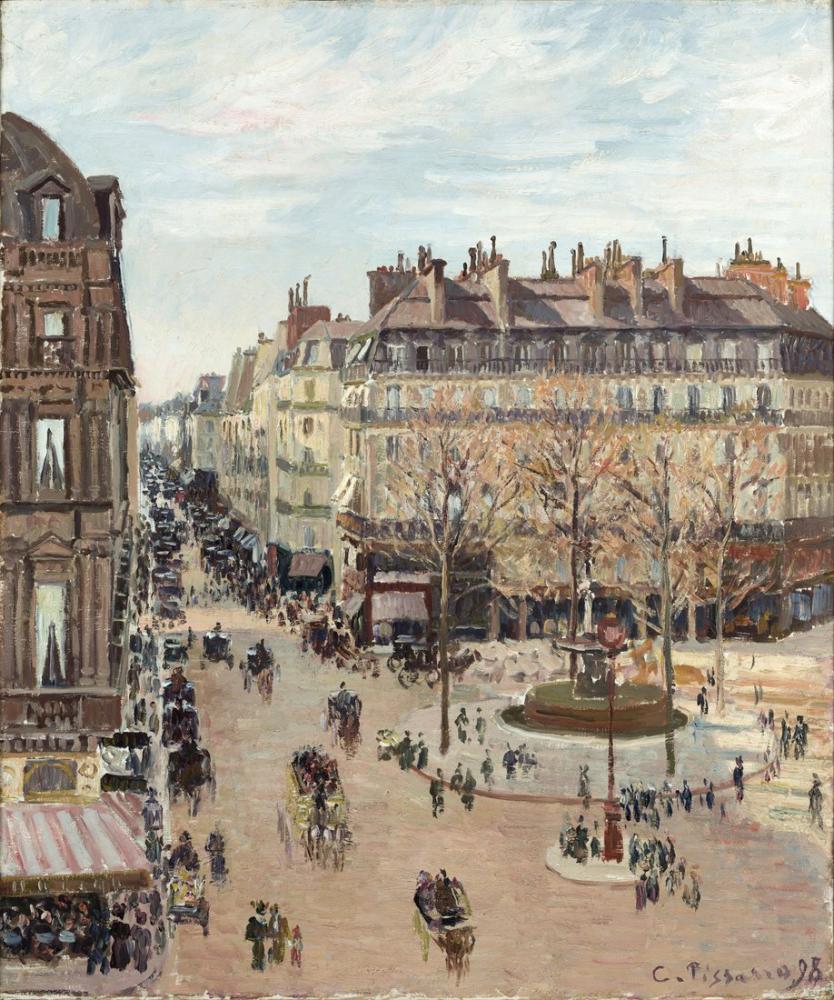 Camille Pissarro Saint Honore Caddesi, Kanvas Tablo, Camille Pissarro