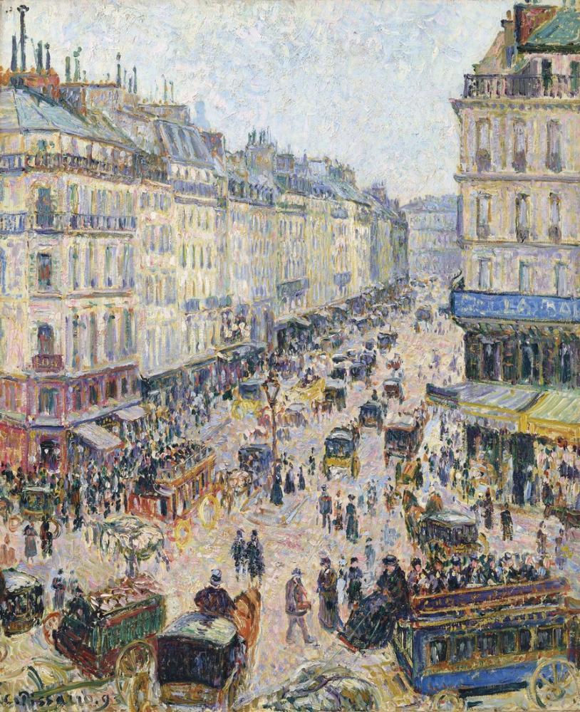 Camille Pissarro Saint Lazare Sokak Işık Zamanı, Kanvas Tablo, Camille Pissarro, kanvas tablo, canvas print sales