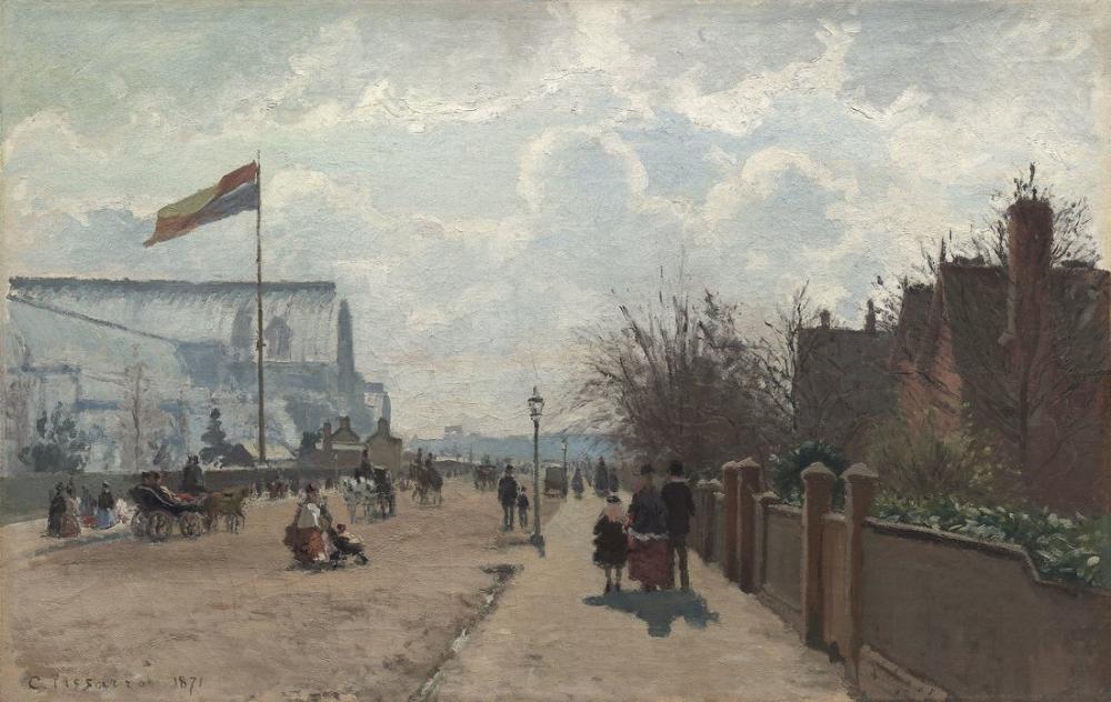 Camille Pissarro Kristal Saray Londra, Kanvas Tablo, Camille Pissarro, kanvas tablo, canvas print sales