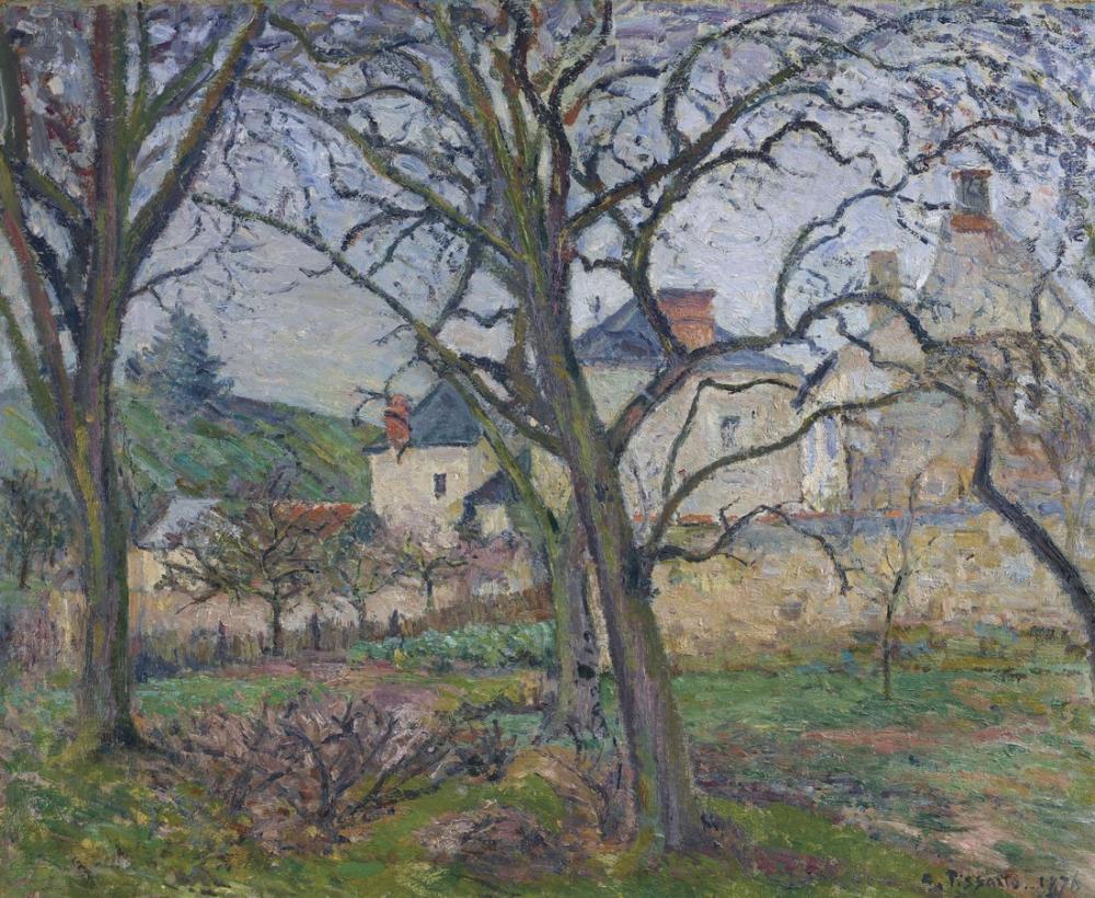 Camille Pissarro Le Jardin De Maubuisson Vu Vers La Cote Saint Denis, Canvas, Camille Pissarro, kanvas tablo, canvas print sales