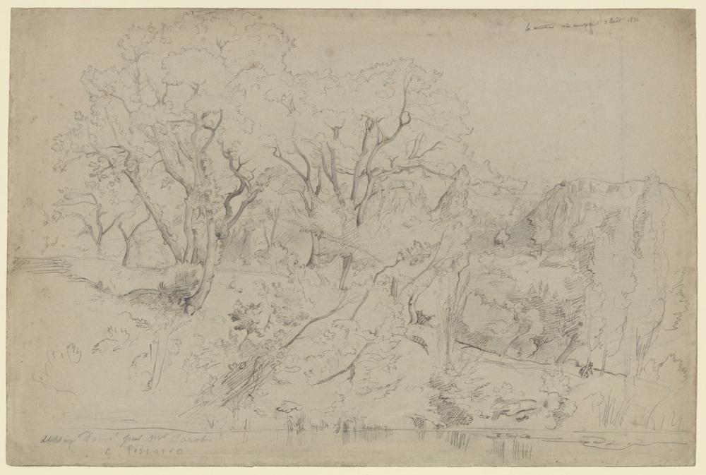 Camille Pissarro Montpellier Yakınındaki Martinet, Kanvas Tablo, Camille Pissarro, kanvas tablo, canvas print sales