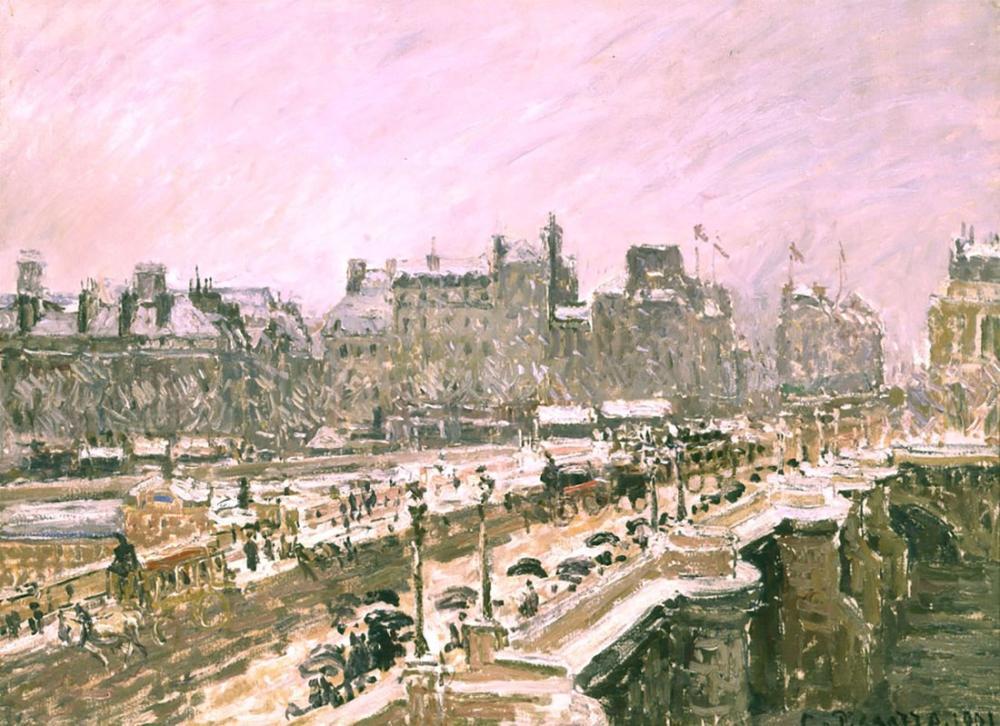 Camille Pissarro Yeni Kar Etkisi Köprüsü, Kanvas Tablo, Camille Pissarro, kanvas tablo, canvas print sales