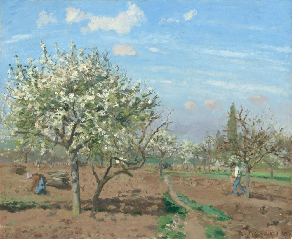 Camille Pissarro Meyve Bahçesi, Kanvas Tablo, Camille Pissarro, kanvas tablo, canvas print sales