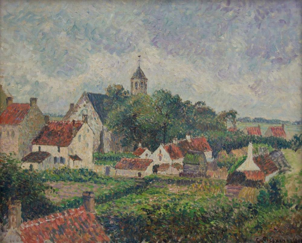 Camille Pissarro Knocke Köyü, Kanvas Tablo, Camille Pissarro, kanvas tablo, canvas print sales