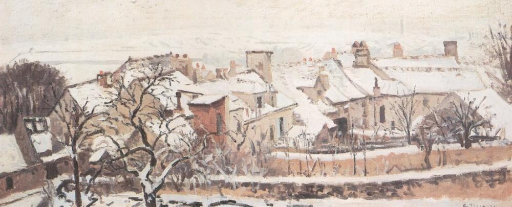 Camille Pissarro Kış, Kanvas Tablo, Camille Pissarro, kanvas tablo, canvas print sales