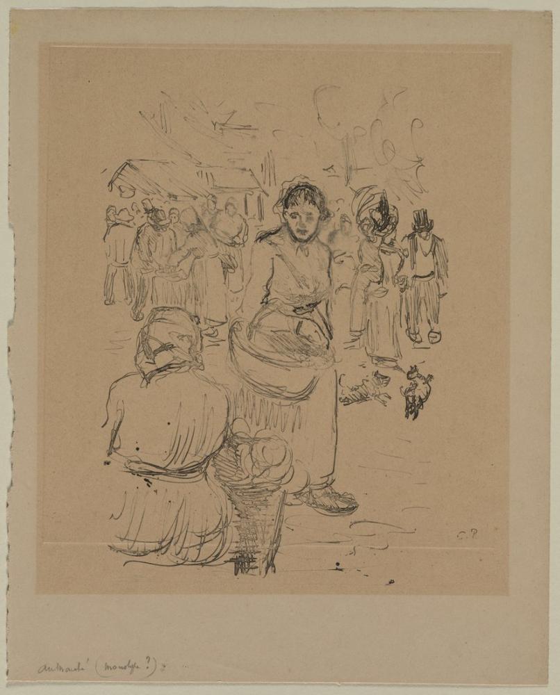Camille Pissarro Markette, Kanvas Tablo, Camille Pissarro