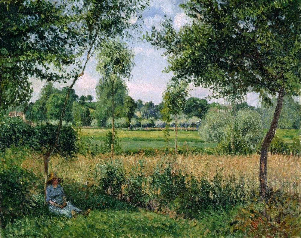 Camille Pissarro Sabah Güneş Işığı Etkisi Eragny, Kanvas Tablo, Camille Pissarro, kanvas tablo, canvas print sales