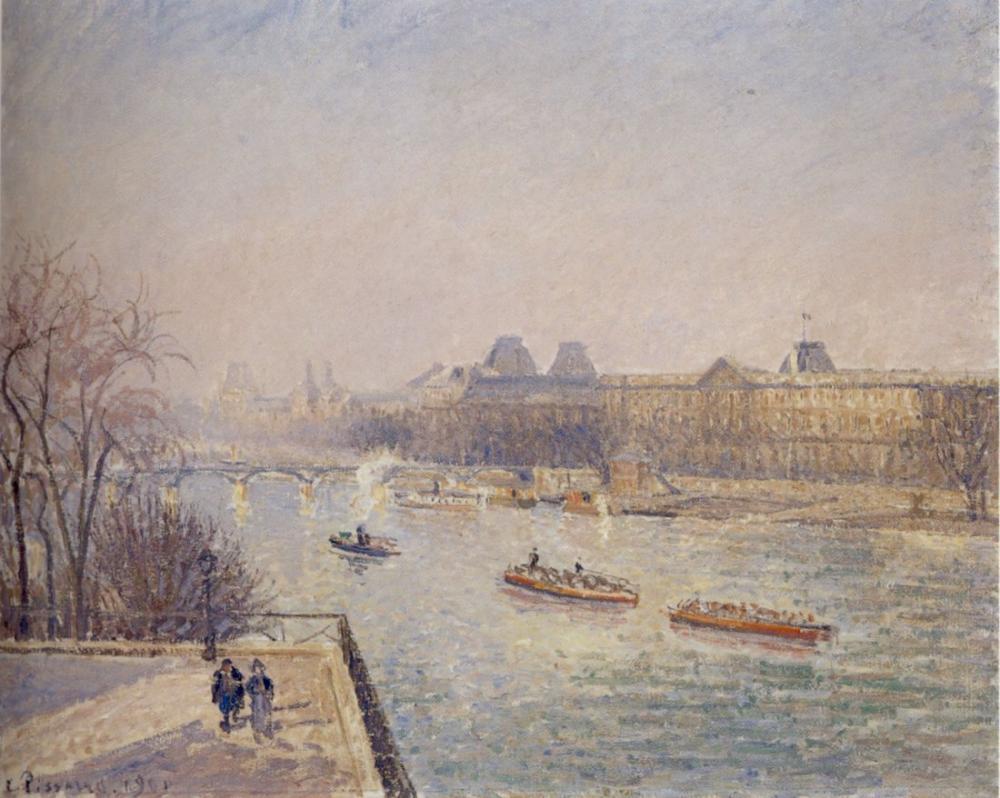 Camille Pissarro Morning Winter Sunshine Frost The Pont Neuf The Seine, Canvas, Camille Pissarro, kanvas tablo, canvas print sales