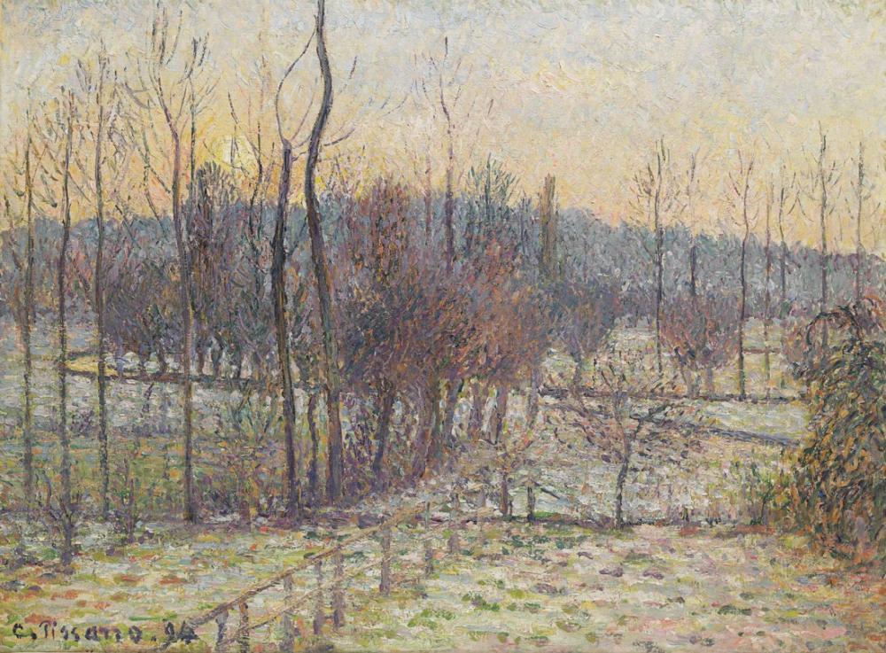 Camille Pissarro Kar Güneşi Ayarı Eragny, Kanvas Tablo, Camille Pissarro