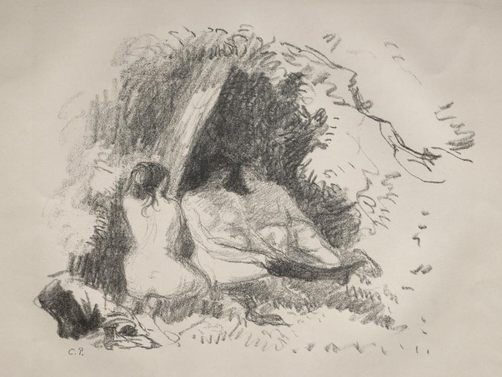 Camille Pissarro Çıplak Kadınlar, Figür, Camille Pissarro, kanvas tablo, canvas print sales