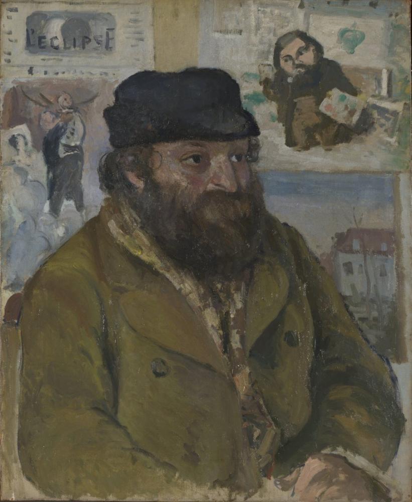 Camille Pissarro Paul Cezanne Portre, Kanvas Tablo, Camille Pissarro