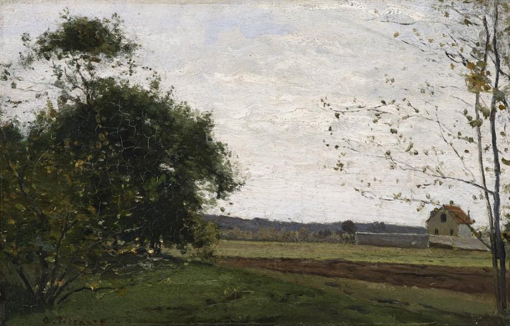 Camille Pissarro Manzara, Kanvas Tablo, Camille Pissarro, kanvas tablo, canvas print sales