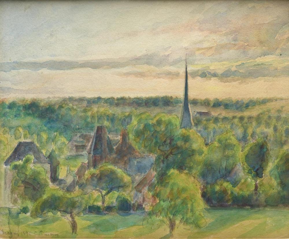 Camille Pissarro Paysage A Eragny, Canvas, Camille Pissarro, kanvas tablo, canvas print sales