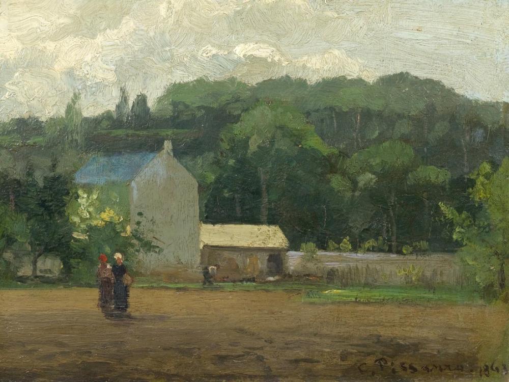 Camille Pissarro Paysage A La Varenne Saint Hilaire, Canvas, Camille Pissarro, kanvas tablo, canvas print sales