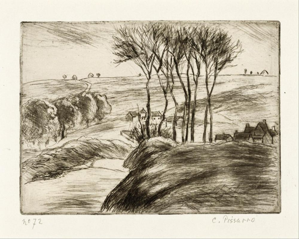 Camille Pissarro Osny İçinde Manzara, Kanvas Tablo, Camille Pissarro