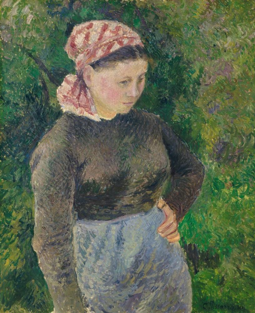 Camille Pissarro Köylü Kadın, Kanvas Tablo, Camille Pissarro, kanvas tablo, canvas print sales
