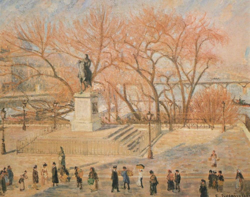 Camille Pissarro Güneşli Yeni Köprü, Kanvas Tablo, Camille Pissarro