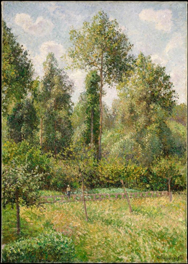 Camille Pissarro Poplars Eragny, Canvas, Camille Pissarro, kanvas tablo, canvas print sales