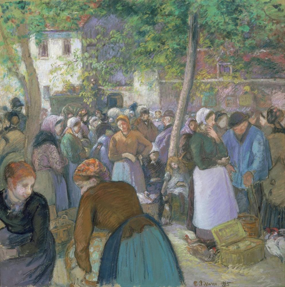 Camille Pissarro Tavukçuluk Pazarı Gisors, Kanvas Tablo, Camille Pissarro