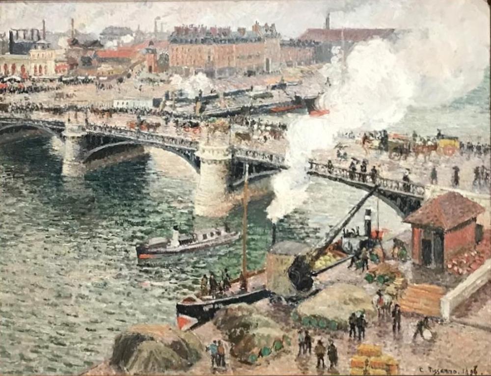 Camille Pissarro Yağmurlu Hava Rouen, Kanvas Tablo, Camille Pissarro