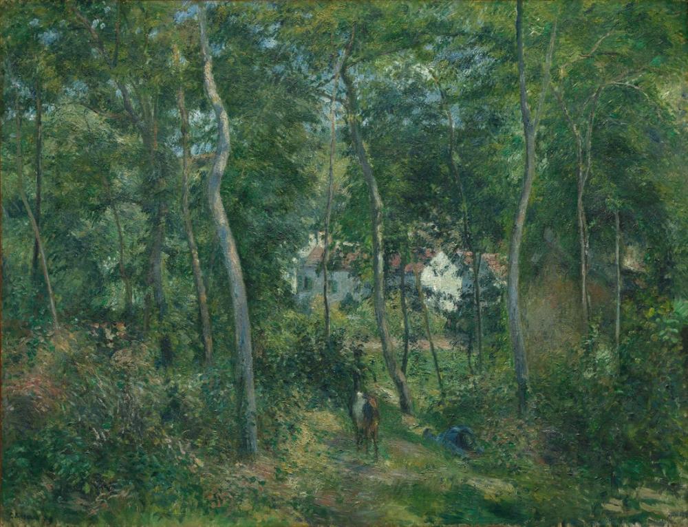 Camille Pissarro Hermitage Pontoise Taşra, Kanvas Tablo, Camille Pissarro