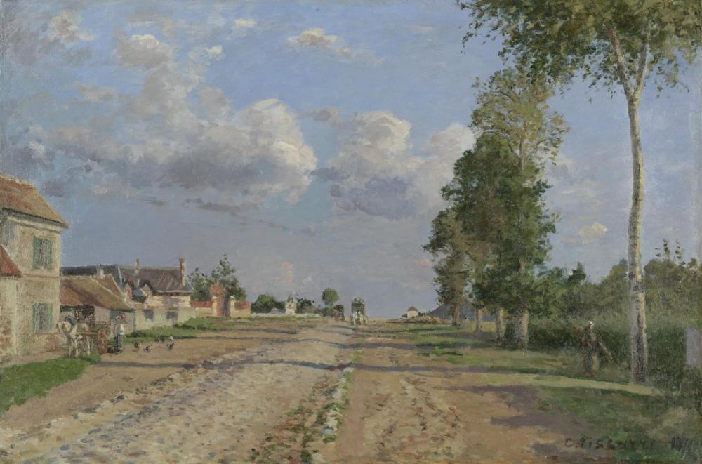 Camille Pissarro Rouen Büyük Köprüsü, Kanvas Tablo, Camille Pissarro, kanvas tablo, canvas print sales