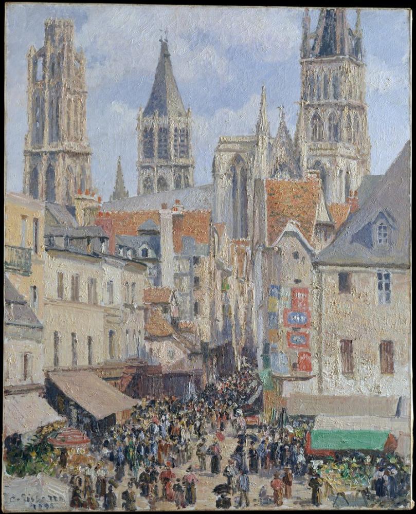 Camille Pissarro Rouen Effect Of Sunlight, Canvas, Camille Pissarro, kanvas tablo, canvas print sales