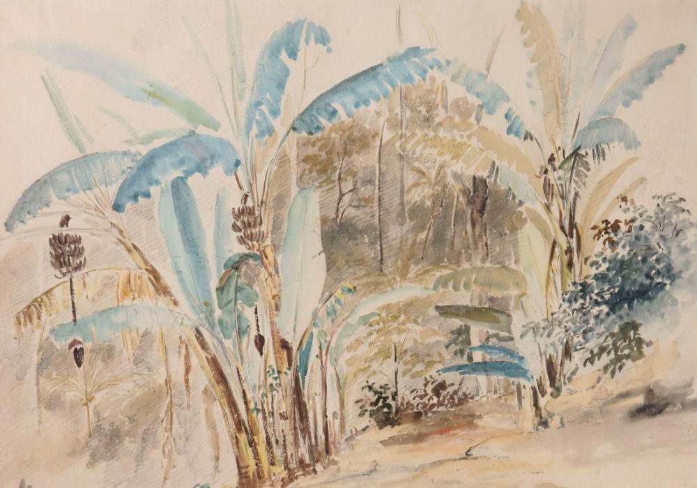 Camille Pissarro Bananeros, Kanvas Tablo, Camille Pissarro