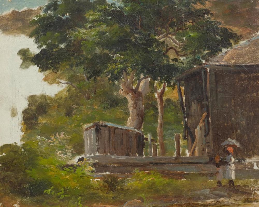 Camille Pissarro Köy Sahnesi, Kanvas Tablo, Camille Pissarro