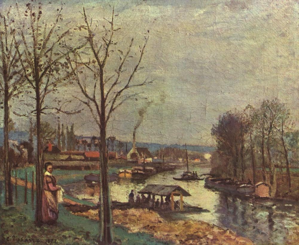 Camille Pissarro Marly Limanı Seine, Kanvas Tablo, Camille Pissarro, kanvas tablo, canvas print sales