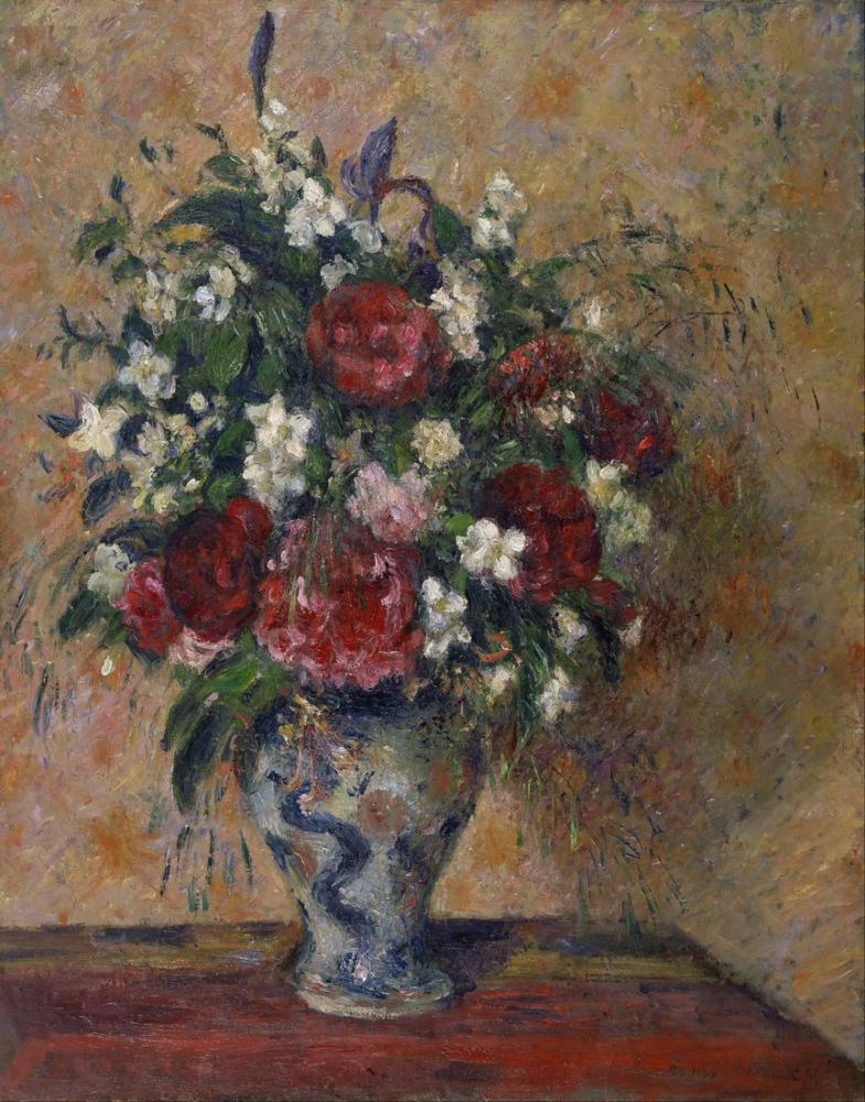 Camille Pissarro Şakayık Ve Sahte Portakal İle Natürmort, Kanvas Tablo, Camille Pissarro