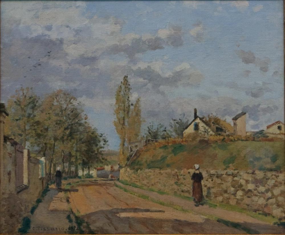 Camille Pissarro Pontoise İçinde Sokak, Kanvas Tablo, Camille Pissarro