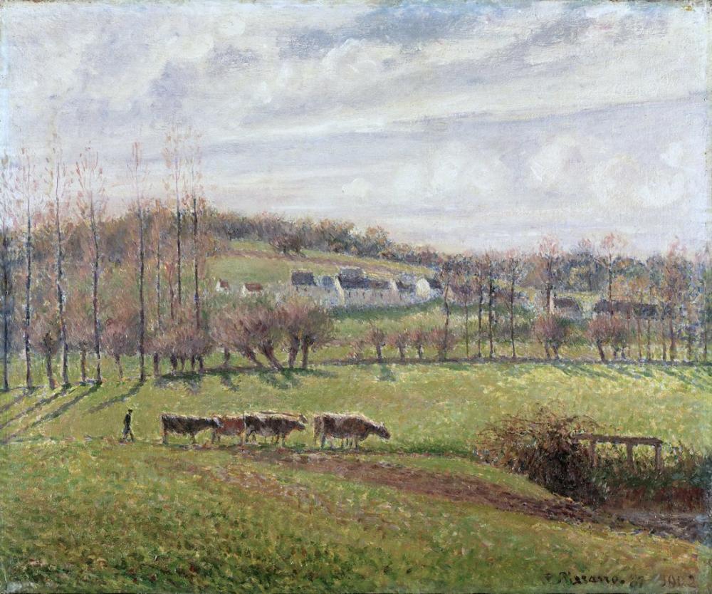 Camille Pissarro Yaz Manzarası Eragny, Kanvas Tablo, Camille Pissarro
