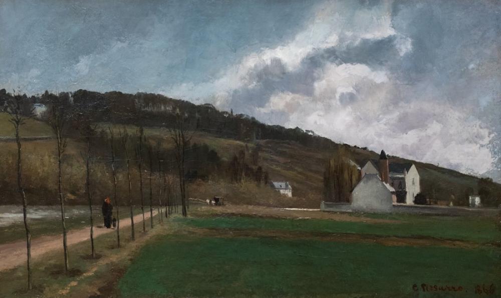 Camille Pissarro Kış Aylarında Marne Kıyıları, Kanvas Tablo, Camille Pissarro