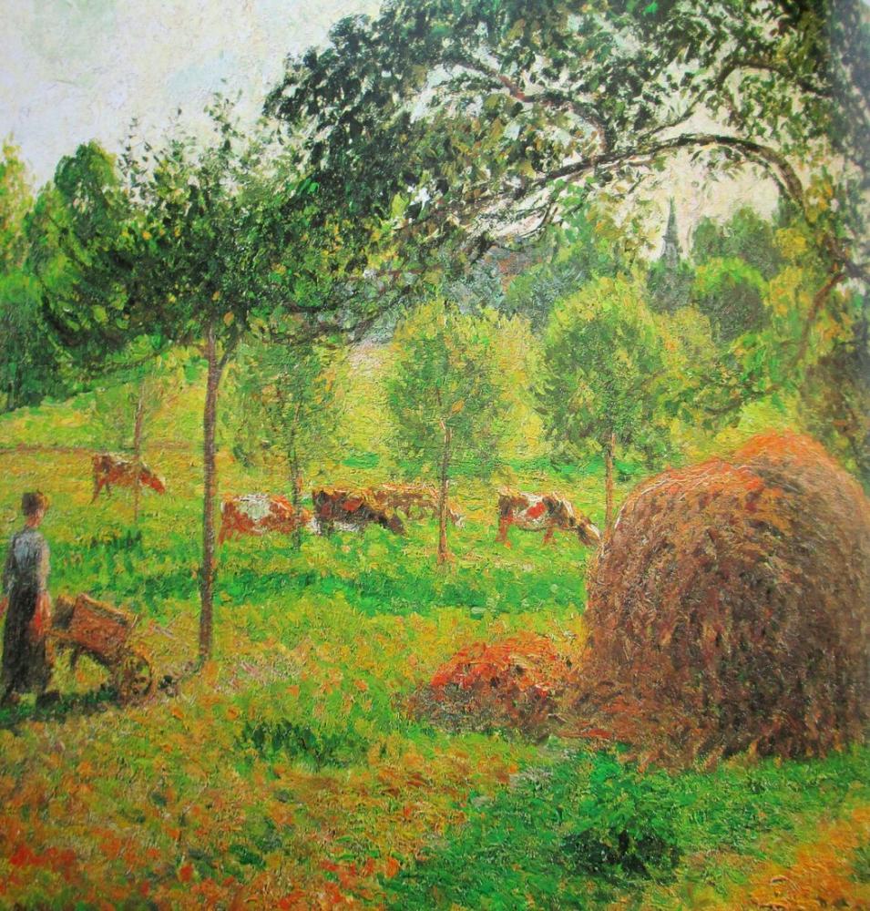 Camille Pissarro Gün Batımında Eragny, Kanvas Tablo, Camille Pissarro, kanvas tablo, canvas print sales