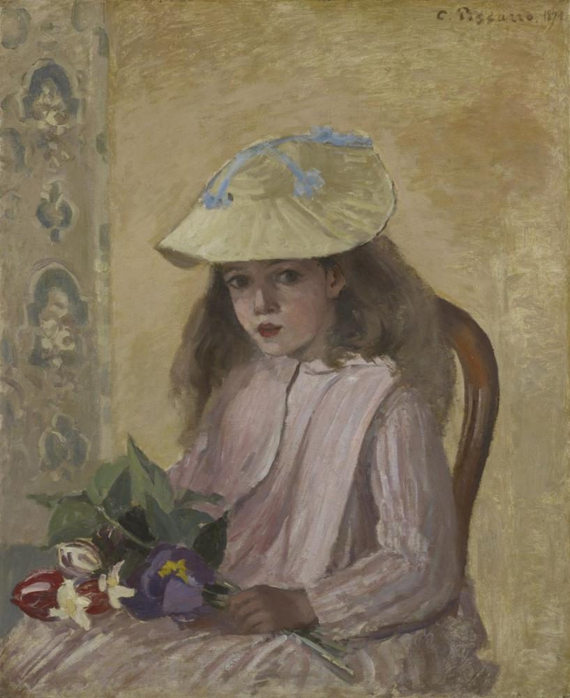 Camille Pissarro Sanatçı Kız, Kanvas Tablo, Camille Pissarro, kanvas tablo, canvas print sales