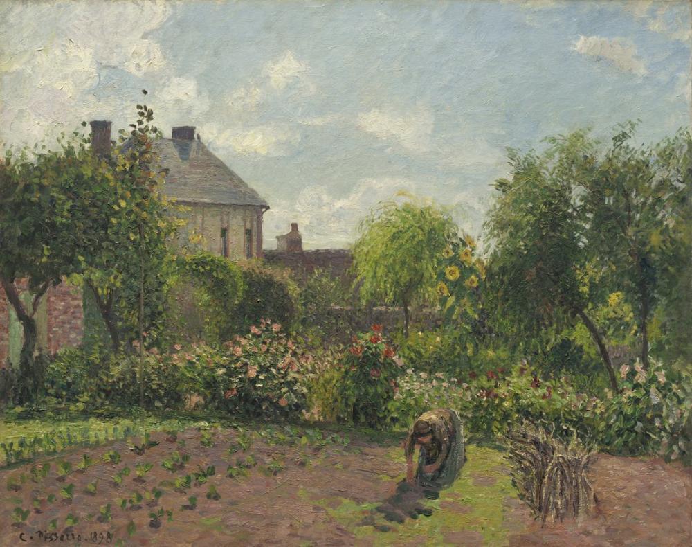 Camille Pissarro Sanatçılar Bahçesi Eragny, Kanvas Tablo, Camille Pissarro
