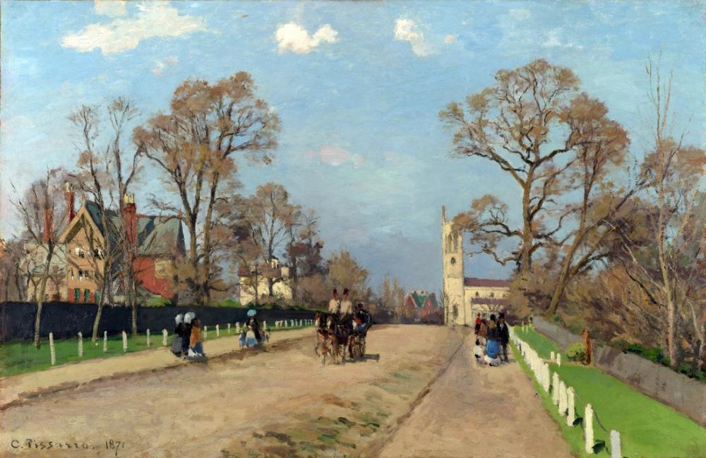 Camille Pissarro Sydenham Bulvarı, Kanvas Tablo, Camille Pissarro, kanvas tablo, canvas print sales