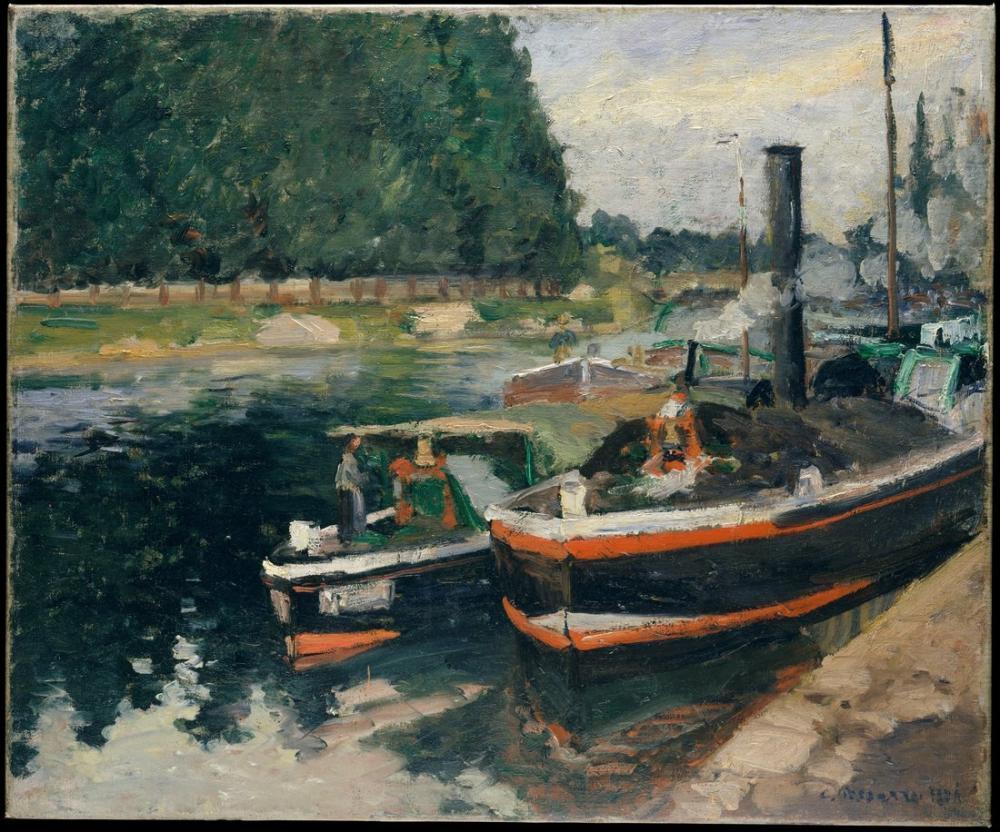 Camille Pissarro Pontoise Mavnaları, Kanvas Tablo, Camille Pissarro