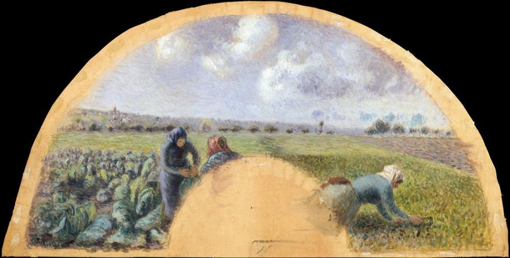 Camille Pissarro Lahana Toplayıcıları, Kanvas Tablo, Camille Pissarro, kanvas tablo, canvas print sales