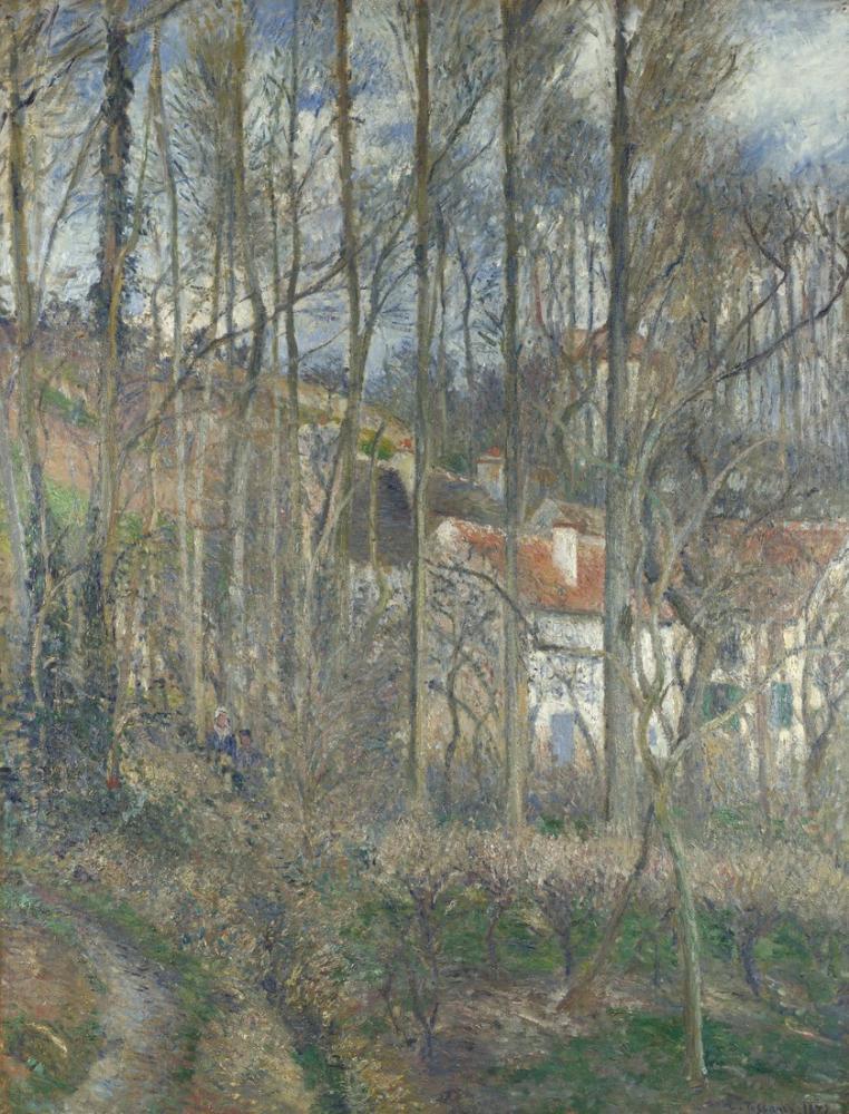 Camille Pissarro Öküz Sahili  LHermitage, Kanvas Tablo, Camille Pissarro, kanvas tablo, canvas print sales